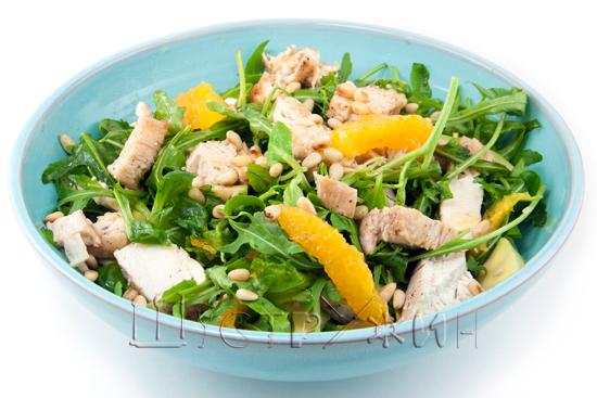 салат с куриной грудкой и апельсином на ужин, рецепт