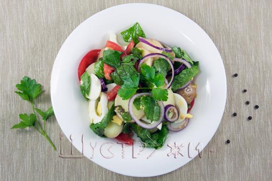 фермерский салат, рецепт