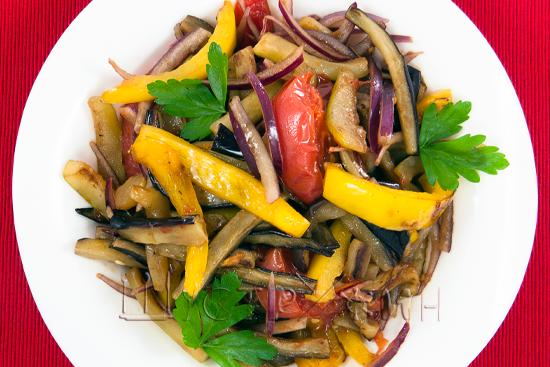салат с баклажаном, рецепт