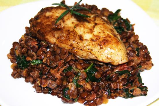 чечевица и куриная грудка рецепт приготовления