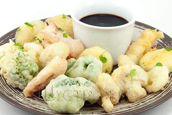 Креветки в темпуре / блюда из кальмаров / tvcook: пошаговые.