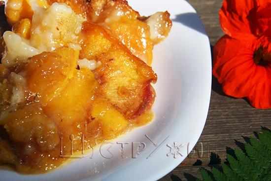 персиковый коблер на десерт рецепт