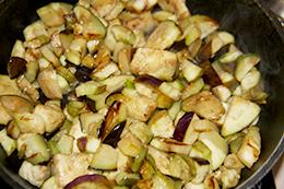 баклажаны с фасолью пошагово фото