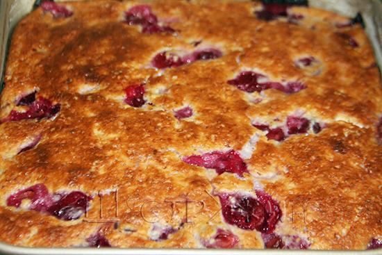 вишневая запеканка, рецепт