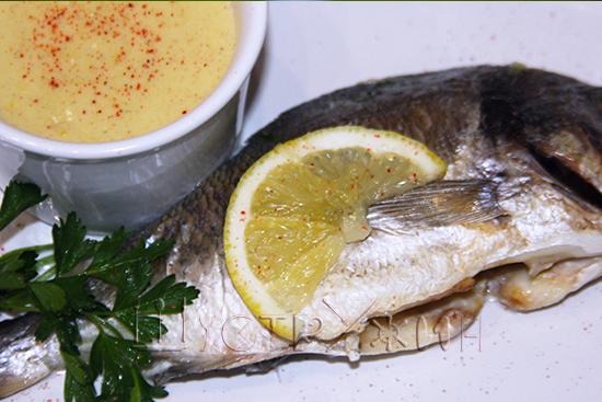 Дорада с лимонным соусом, рецепт