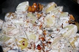 Картошка с лисичками и сметаной пошагово фото