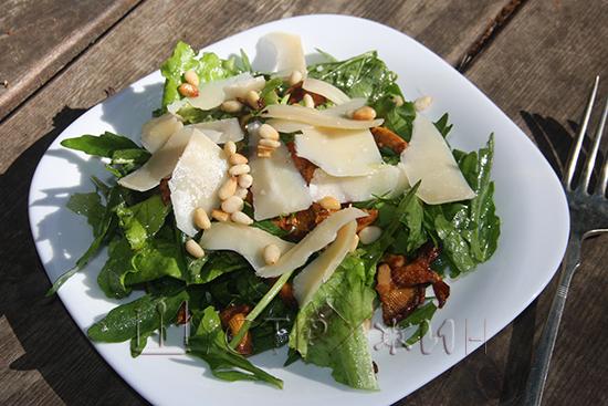 салат с лисичками, рецепт