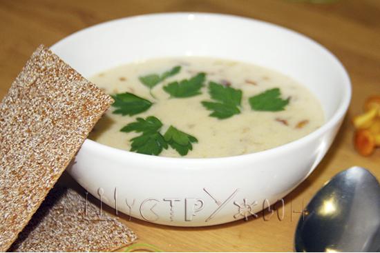суп с лисичками, рецепт