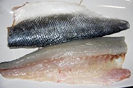 разделка рыбы сибас