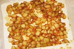 слойки с яблоком  фото