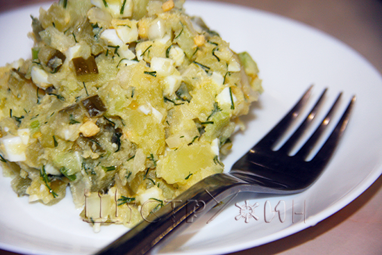 Американский картофельный салат, рецепт