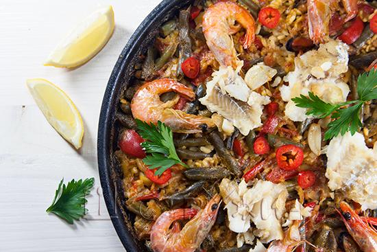 Паэлья с морепродуктами, рецепт