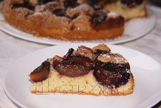 американский сливовый пирог, рецепт