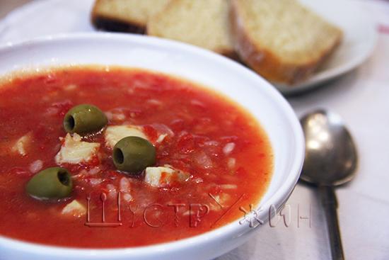 Томатный суп с рыбой, рецепт