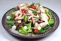 салат с кальмаром как приготовить фото