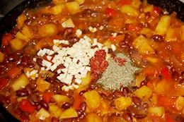 овощи с фасолью на сковороде как приготовить фото