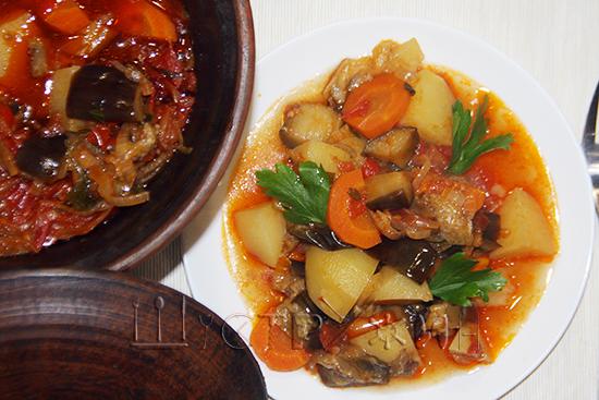 рагу из овощей в горшочке, рецепт