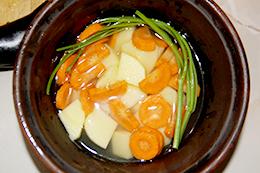 баклажаны с овощами в горшочке, как приготовить фото