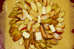 вкусная галета с яблоками, как приготовить фото