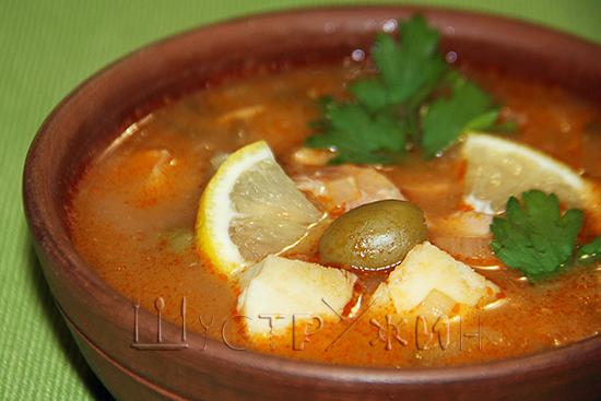 Как приготовить суп рыбную солянку