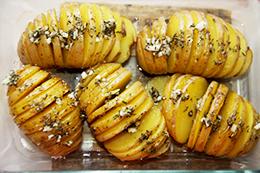 печеная картошка гармошкой в духовке, как приготовить фото