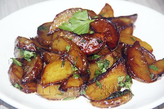 Картофель в медово-соевом соусе, рецепт