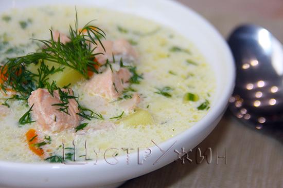 лохикейтто - финский суп с лососем и сливками, рецепт