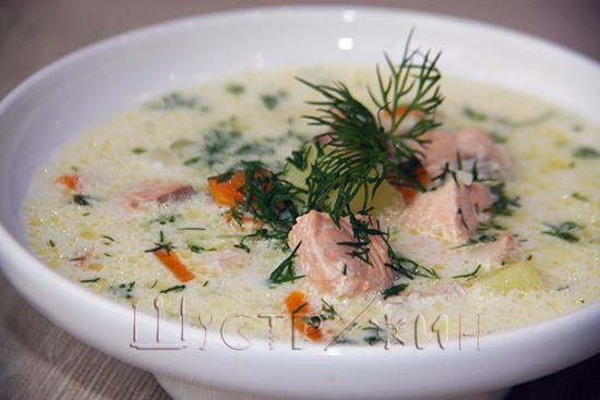 рыбный суп со сливками, как приготовить. Рецепт с фото.