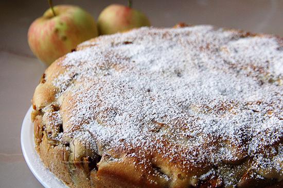 яблочный заливной пирог, рецепт